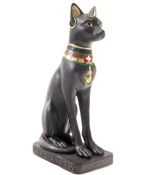 Statue Egyptian Cat - Bastet with Earring
