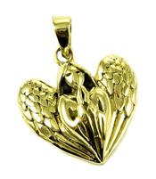 Bronze Pendant - Angel Heart Design By Lisa Parker