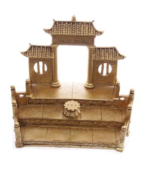 Happy Buddha Golden Display - Temple Incense Holder