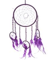 Dreamcatcher Multi 4 Beads and Stars - Purple 16cm