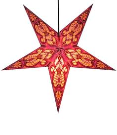 Paper Star Lantern - Light Red Peacock