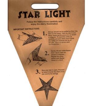 Paper Star Lantern - Light Red Peacock