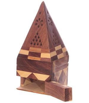 Incense holder Wood Box - Pyramid