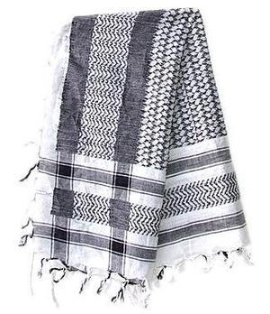Arabic Scarf Cotton - White n' Black