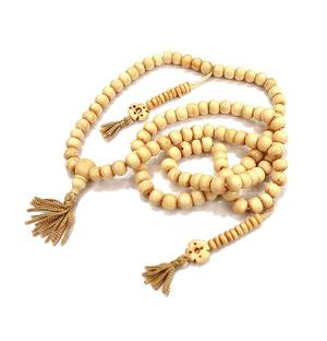 Buddhist Mala Prayer Beads - Bone White