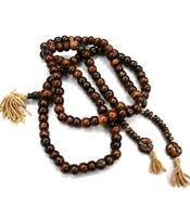 Buddhist Mala Prayer Beads - Bone Brown