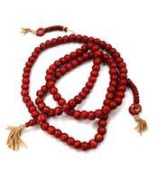 Buddhist Mala Prayer Beads - Bone Red