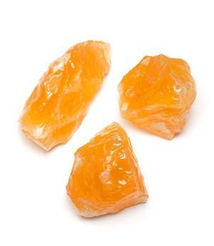 Kalsiitti, oranssi - luonnollinen mineraali