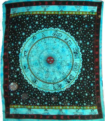 Bedspread Zodiac - Turquoise