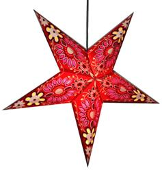 Paper Star Lantern - Red Flower
