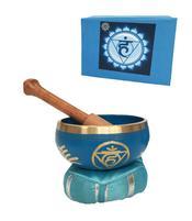 Tibetan Singing Bowl in Gift Box - Blue Visuddha 12cm