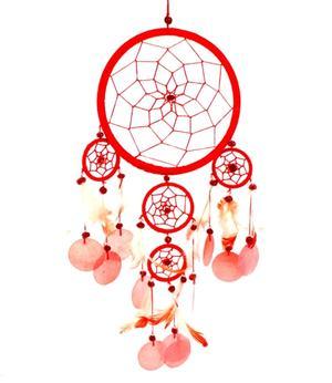 Dreamcatcher Multi 5 - Red 16cm