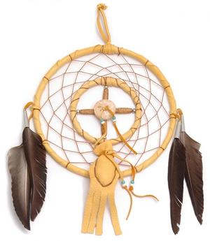 Navajo Dreamcatcher by Curtis Bitsui - Medicine Wheel n' Bag, 10,5cm