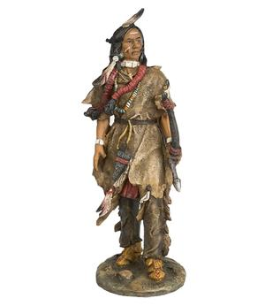 Native American Statue - Bow Hunter, 28cm