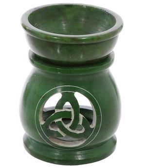Aromalamp Soapstone - Celtic Triquetra Knot