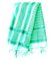 Arabic Scarf Cotton - White n' Green