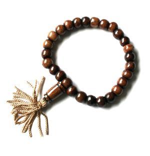 Buddhist Stretchy Wrist Mala BRACELET - Bone Brown