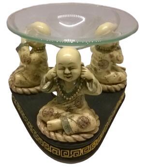 Aromalamp Buddhist Monk - See, Hear, Say No Evil