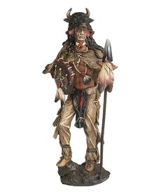 Native American Statue - Buffalo Warrior, 28cm