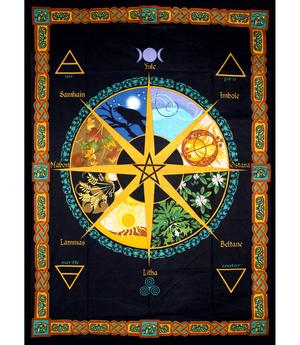 Tapestry Bedspread - Pagan Calendar