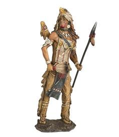 Native American Statue - Eagle Warrior, 28cm