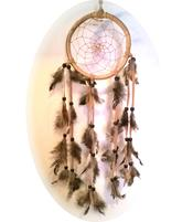 Dreamcatcher Wooden - Feathers 13cm