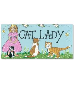 Happy Sign - Cat Lady