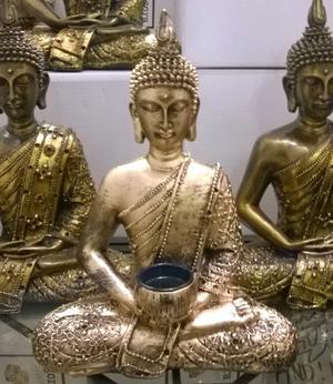 Amitabha Thai Buddha - Golden Tealight Holder 27cm