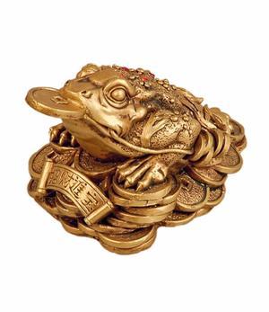 Three-legged Toad - Golden Poly 9cm