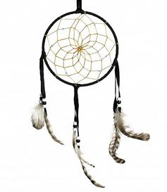 Navajo Dreamcatcher - black, 15cm