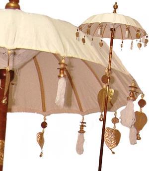 Parasol Garden Umbrella - White 100cm