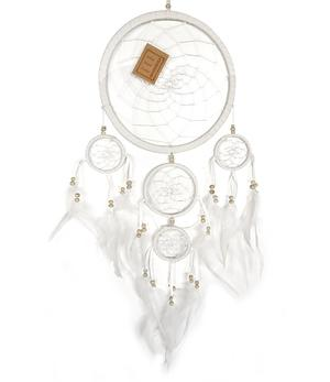 Dreamcatcher Multi 5 - White 22cm