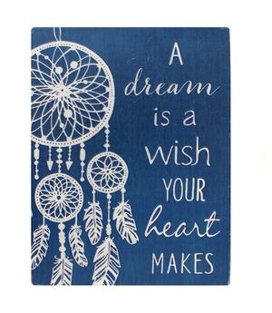 A Dream is a Wish Your Heart makes - Dreamcatcher Metal Magnet