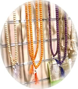 Buddhist Mala Prayer Beads - Wood Orange