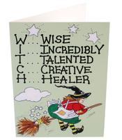 Greeting Card - W I T C H