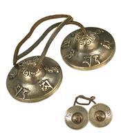 Tingsha Brass Cymbals - Om Mani Padme Hum 62mm