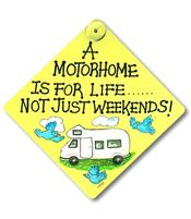 Happy Window Sign - Motorhome for Life