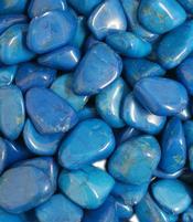 Howliitti sininen / turquenite silea, rumpuhiottu