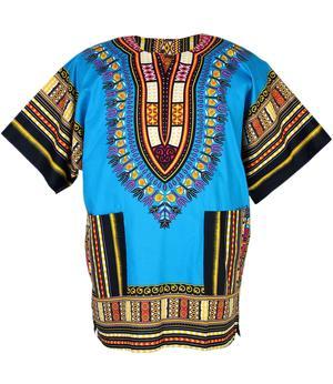 Short Sleeve Dashiki Yamado Shirt - Blue