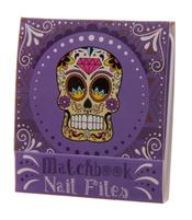 Nail File Match Book - Day of The Dead, Purple
