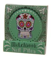 Nail File Match Book - Day of The Dead, Green