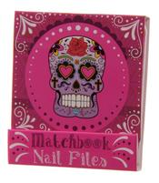 Nail File Match Book - Day of The Dead, Pink