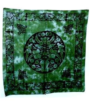 Tarot Cloth Bandana Scarf - Green Man 100x100cm