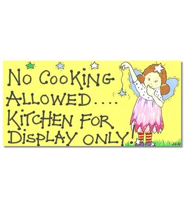 Happy Witchy Sign - No Cooking Allowed