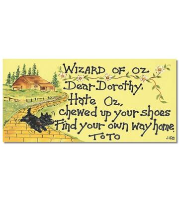 Happy Witchy Sign - Wizard of Oz