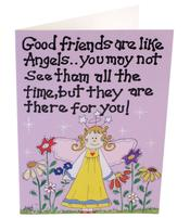 Greeting Card - Good friends are like Angels