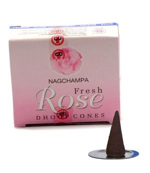 Incense Cones Nag Champa - Fresh Rose