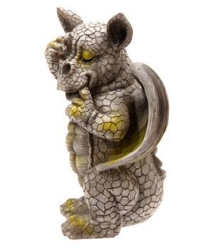 Garden Decoration - Cute Dragon Covering One Eye 24cm