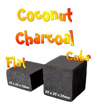 Coconut Shell Charcoal - CocoBrico Cubes 72pcs, 1kg
