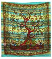 Bedspread Tree of Life - Water